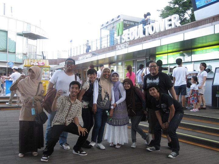 Tower, Seoul : CHINGUS and Indonesian students from Inha University ...