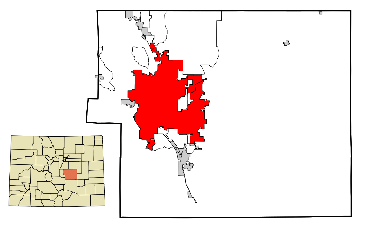 County Colorado Incorporated and Unincorporated areas Colorado Springs ...