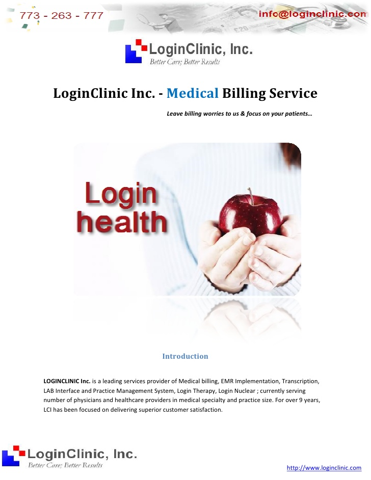 Medical Billing - Login Services Profile