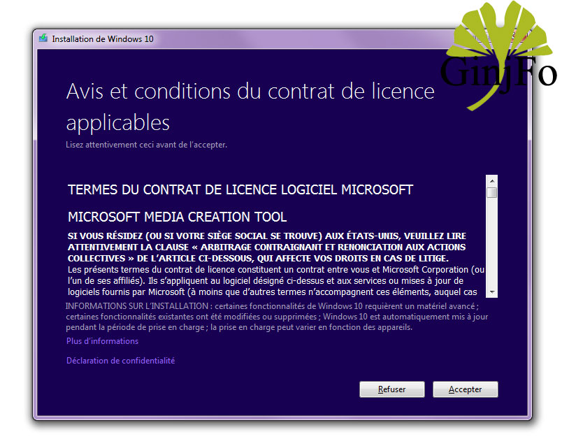 ... Microsoft Media Creation Tool pour Windows 10 Anniversary Update
