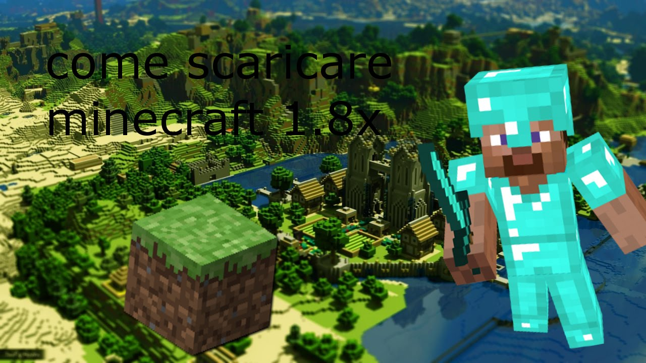 come scaricare minecraft SP 1.8x - YouTube
