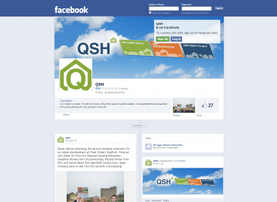 New Website, Hosting and Social Media for QSH Ltd - Friendly Creatives