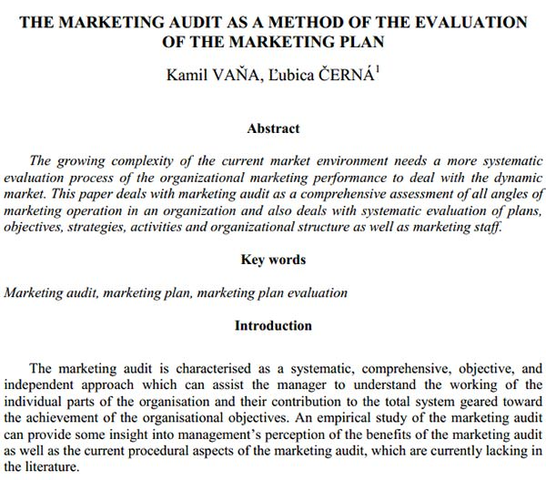 Marketing Audit Template - Free Word, Excel Documents Download - Free ...