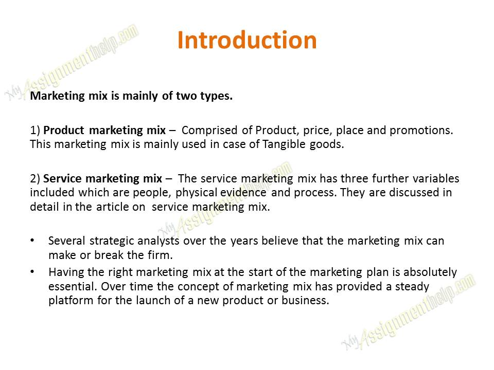 Marketing Plan - Marketing Analysis - 4 P