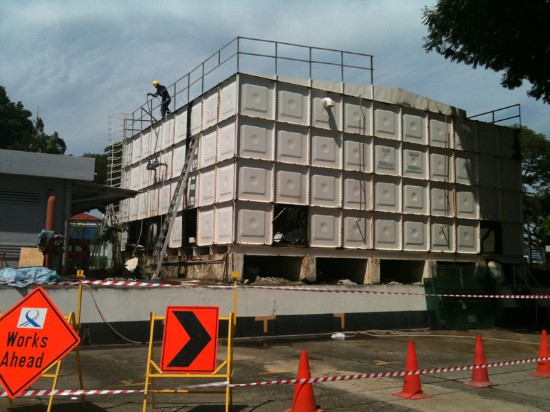 Replacement of Water Tank at National Computer Singapore