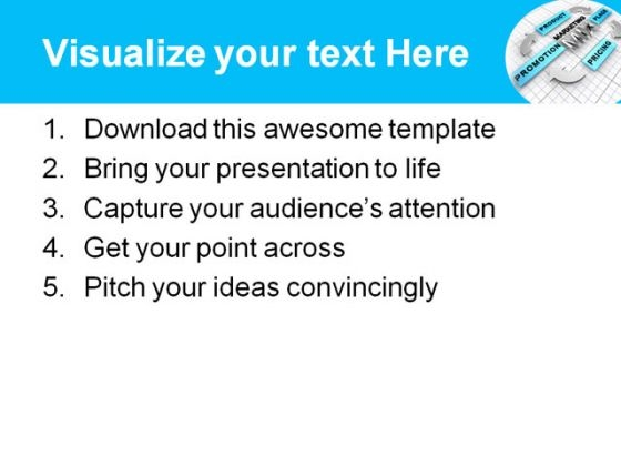 ... -Templates Shapes Marketing Mix Business PowerPoint Template 0510