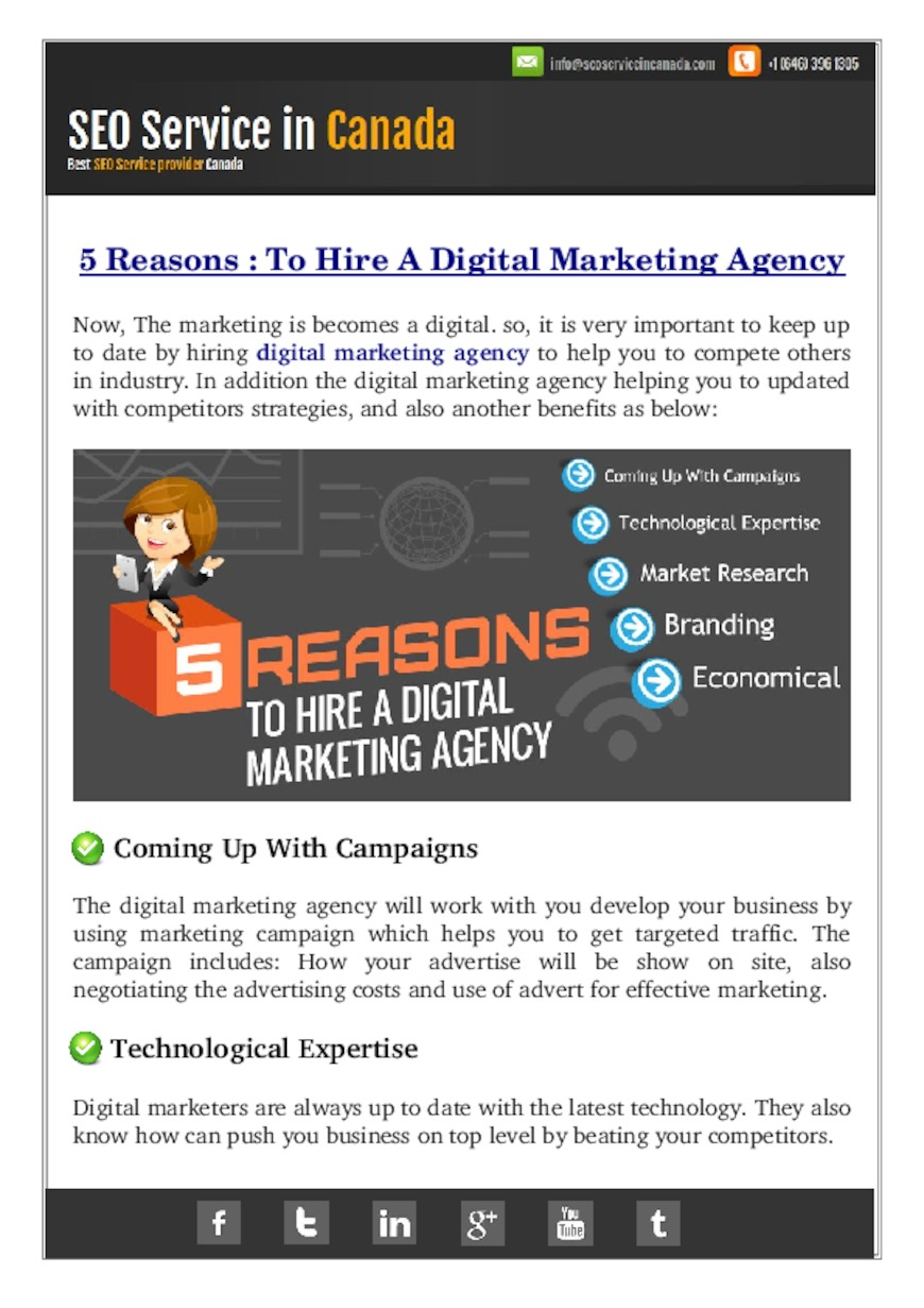 Why To Hire A Digital Marketing Agency? - PdfSR.com