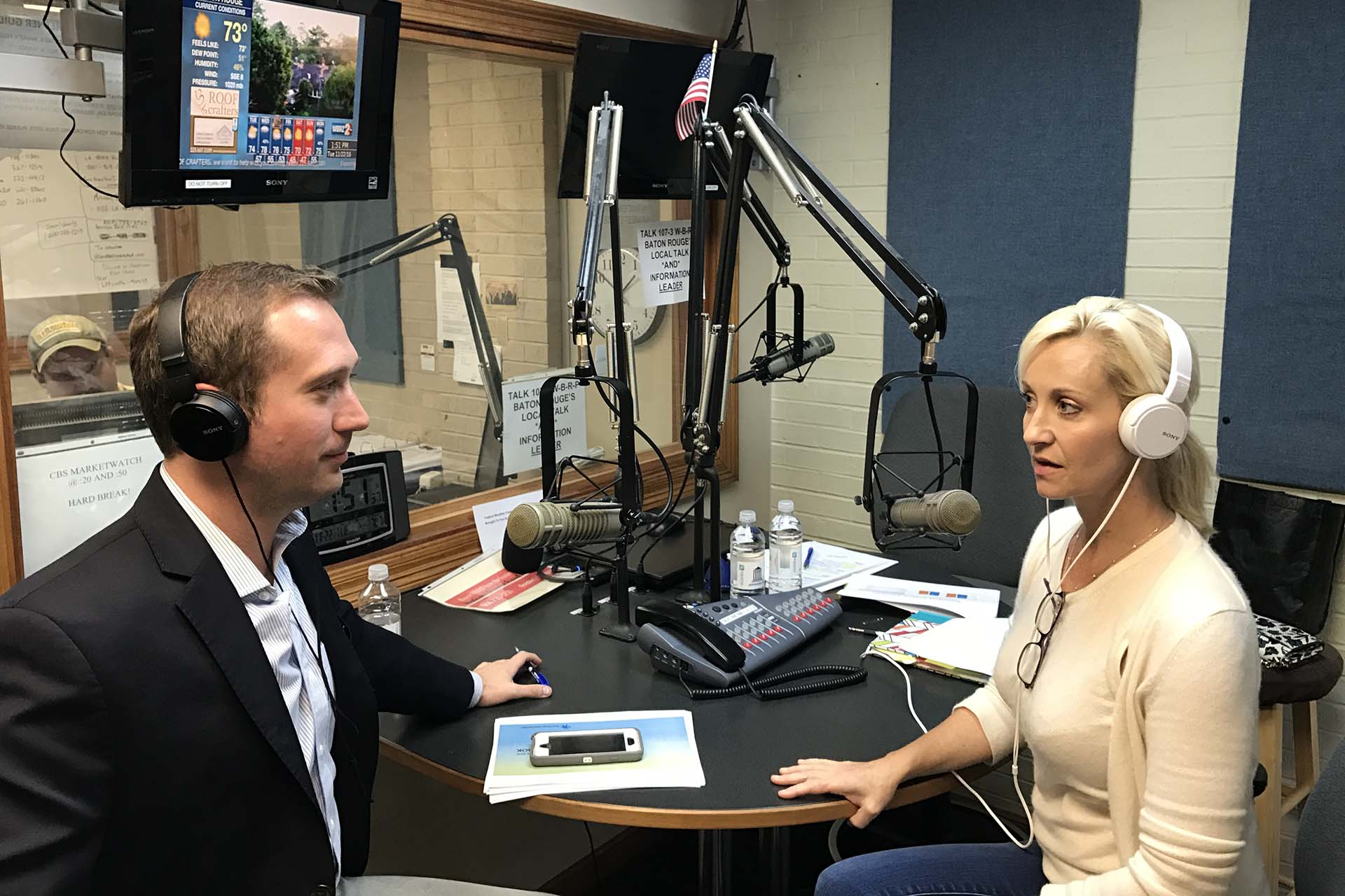 Taping Mortgage Matters Radio Show in Studio with Pam Matassa of GMFS ...