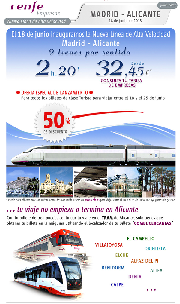 For more info about timetables, prices and online booking visit renfe ...