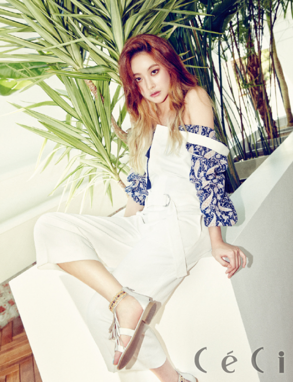 Korean Actress Oh Yeon Seo Ceci Magazine July 2015 Photoshoot Fashion