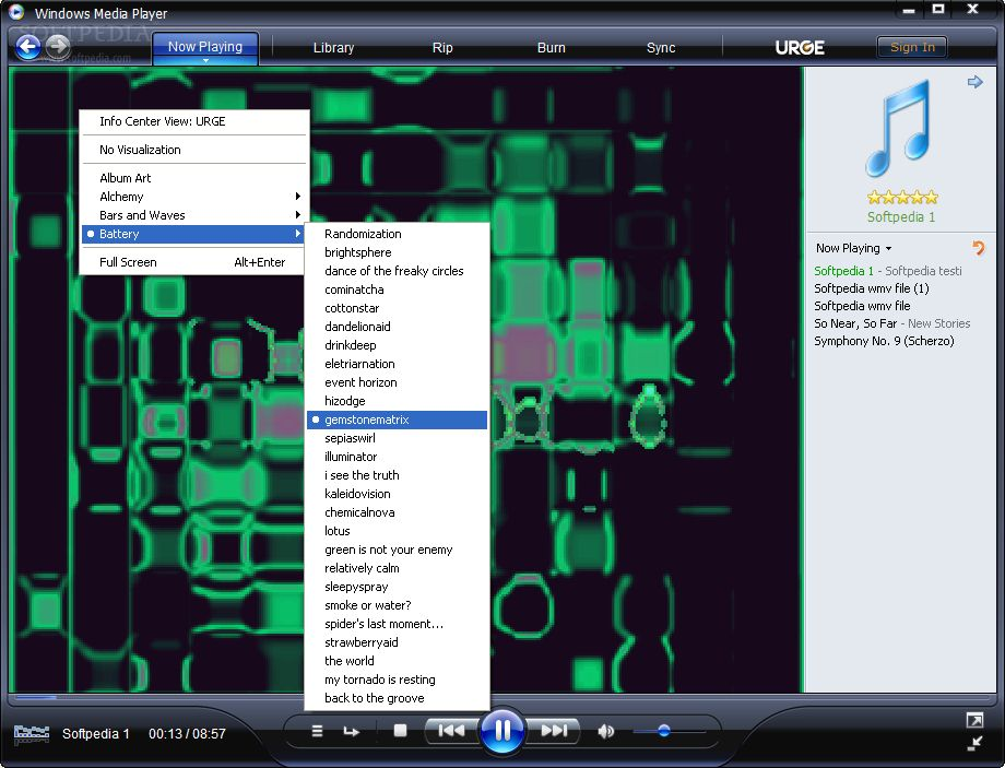 ... windows media player 11 guide n