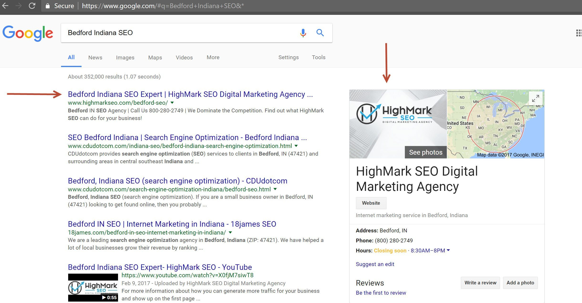 ... SEO Google Search 3.30.17 - HighMark SEO Digital Marketing Agency
