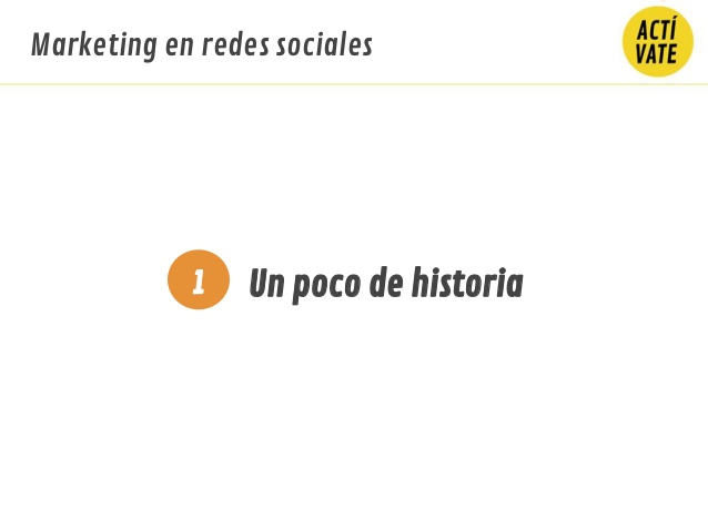 un poco de historia1 marketing en redes sociales 5 p