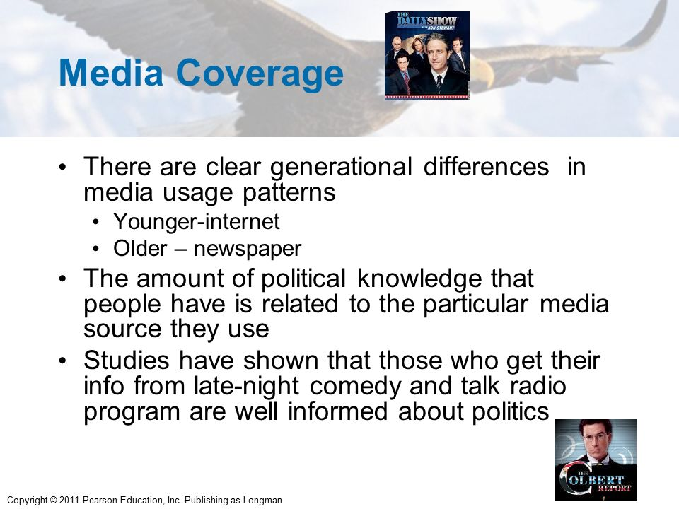 Media Coverage There are clear generational differences in media usage ...