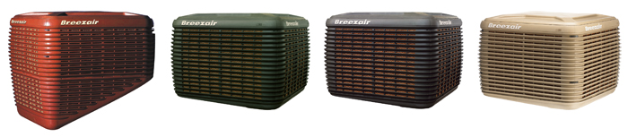 breezair product range colours 700px
