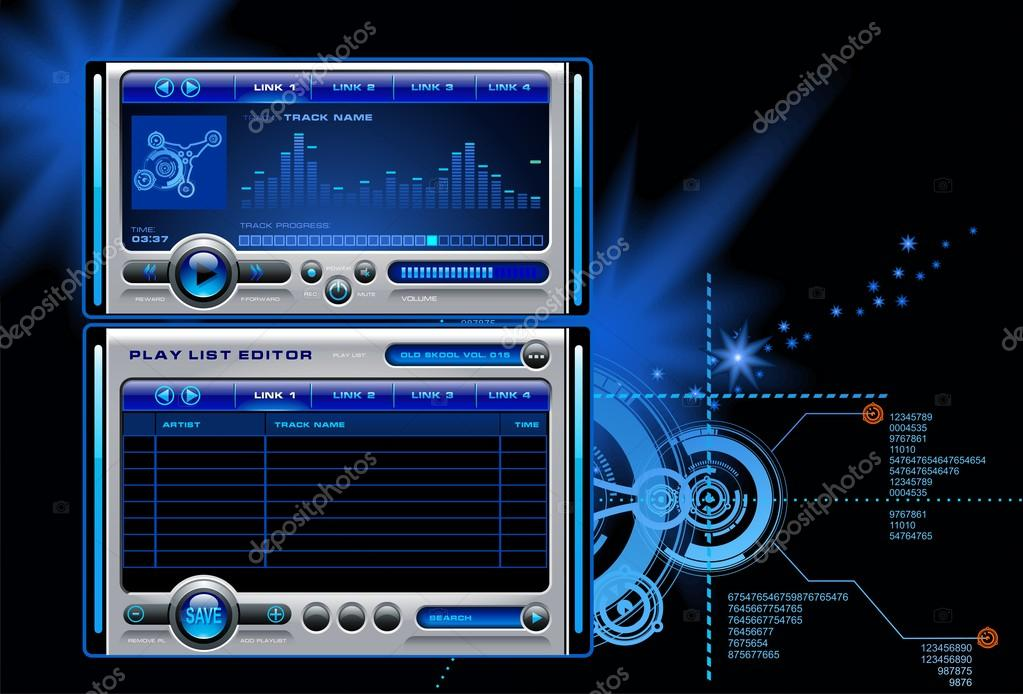 Download - Mp3 media music player vector