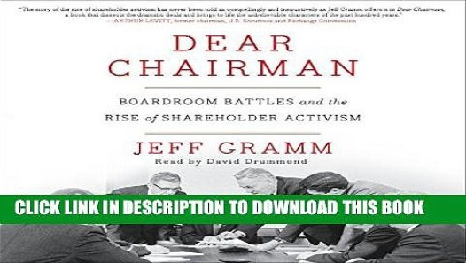 PDF] Dear Chairman: Boardroom Battles and the Rise of Shareholder ...