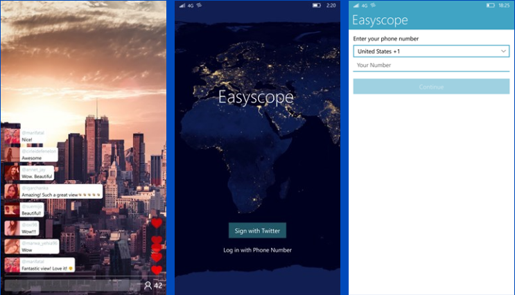 Shockingly, there is no Periscope app for Windows phones. Ok, it