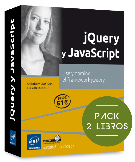 Pack de libros jQuery y JavaScript - Pack de 2 libros: use y domine el ...