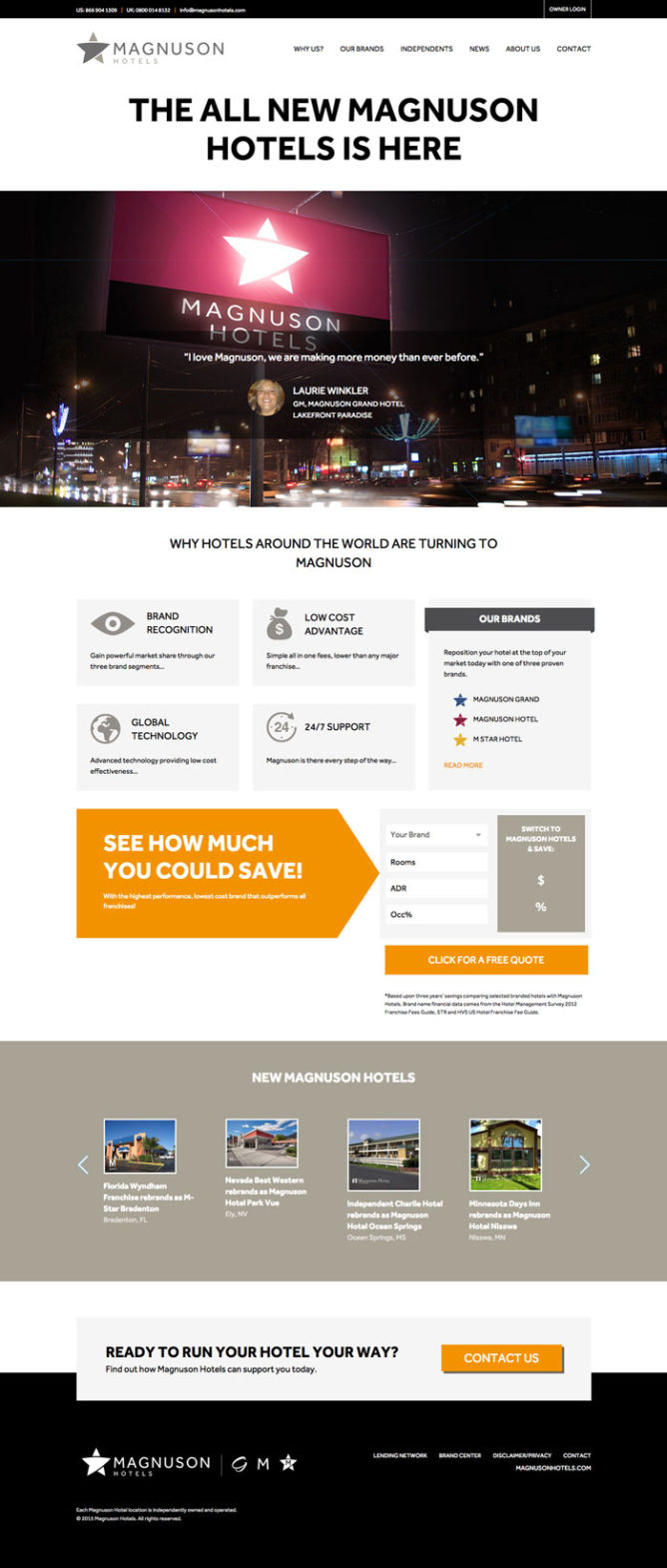 Magnuson Hotels - 93digital - WordPress Web Design Portfolio