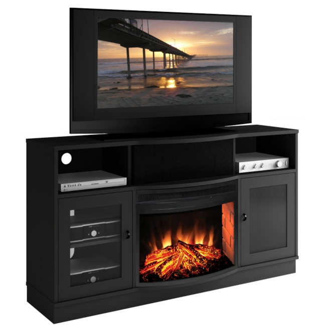 ... Inch TV Media Console w\/ 25 Inch Electric Fireplace - eFurniture Mart