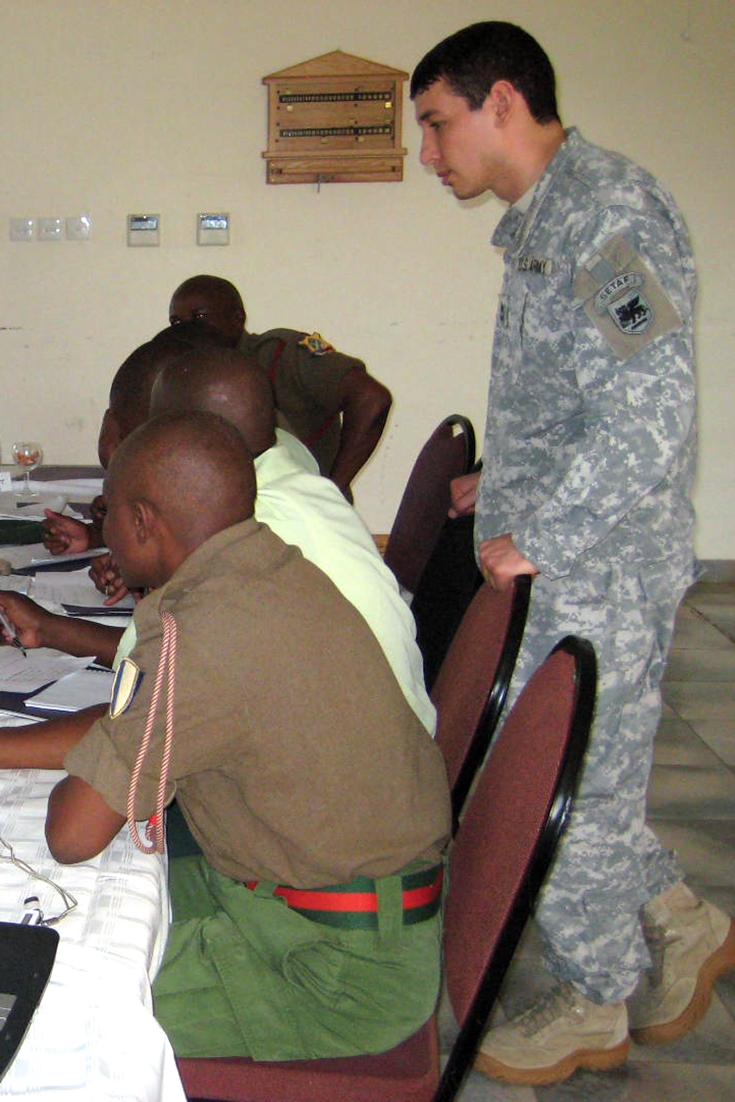 File:U.S. Army Africa NCOs mentor staff operations in Botswana - March ...