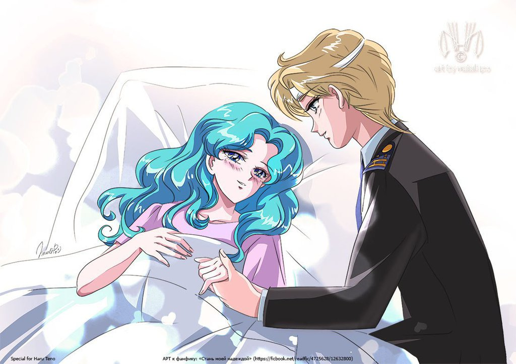 Haruka and Michiru by NataliPo on DeviantArt