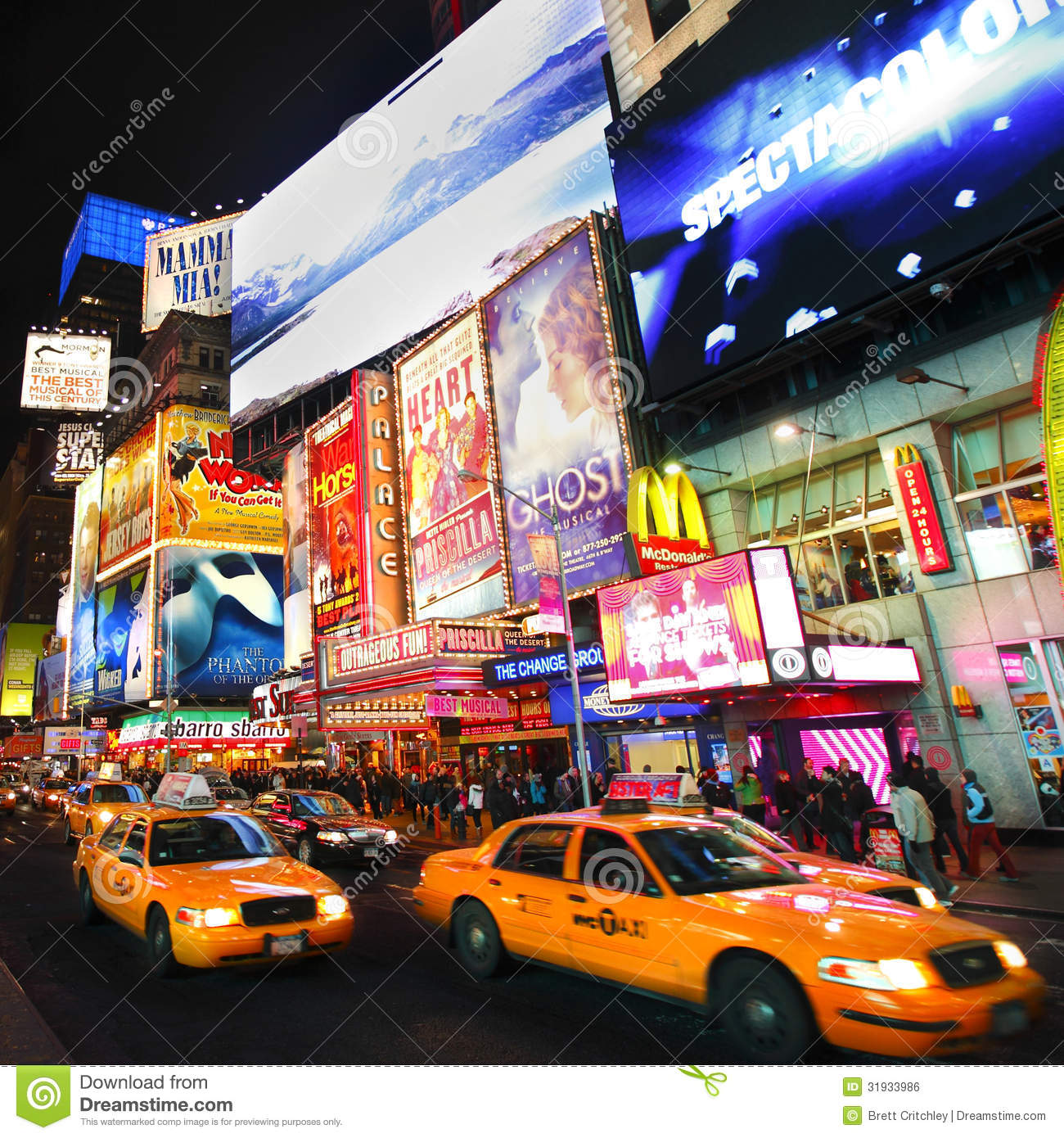 Broadway Show Billboards Editorial Photo - Image: 31933986