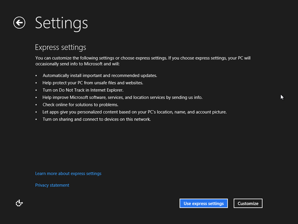 If you choose to customize the settings, you can toggle any of the ...