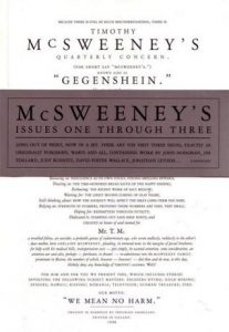 McSweeney's #1-3  <small>(McSweeney's Quarterly Concern #1-3)</small> torrent downlaod
