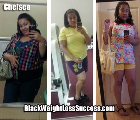 Chelsea lost 30 pounds - Black Weight Loss Success
