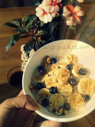 OATMEAL BREAKFAST, A GOOD EXAMPLE OF SLOW DIGESTING CARB