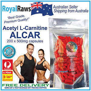Acetyl-L-Carnitine-200-x-500mg-capsules-loss-alcar-burner-supplement ...