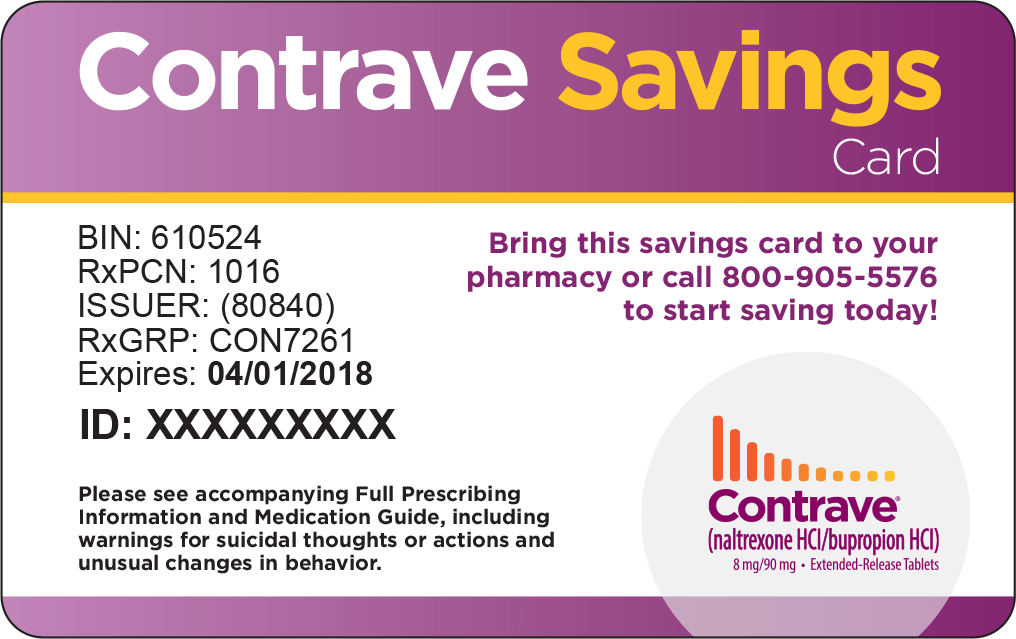 ... contrave prescription with the contrave savings card you can save on