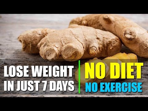 NO DIET, NO EXERCISE - How To Lose Weight With Ginger Tea in Just 7 Days Lose Belly Fat
