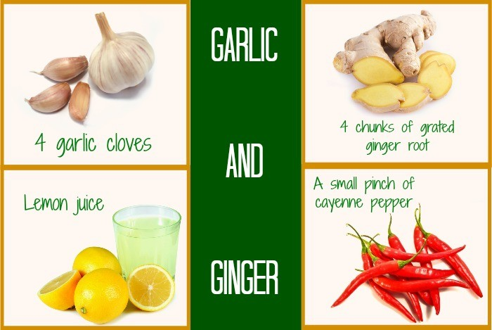 home remedies for weight loss - garlic and ginger