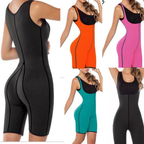 Sweat Bodysuit Hot Neoprene Thermo Shapers Weight Loss Full Body ...