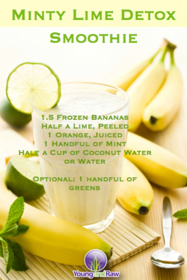 Minty lime detox smoothie - recipes - Pinterest