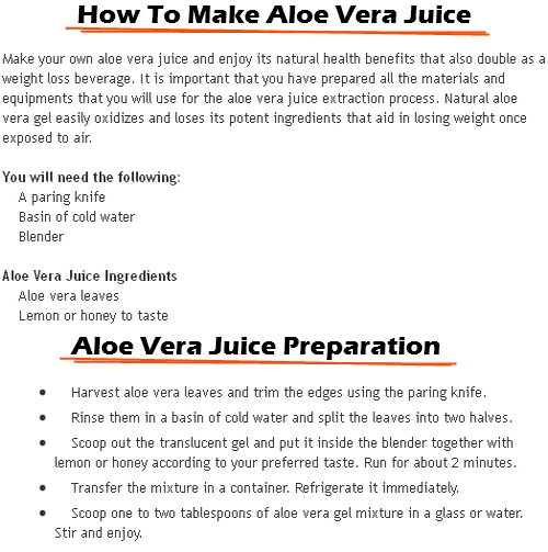 Aloe Vera can be used as Weight-Loss Property