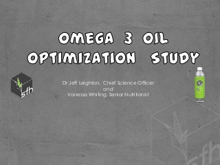 AHS13 Jeff Leighton — The Role of Omega 3 Oils in the Treatment of Chronic Inflammation (AHS13)