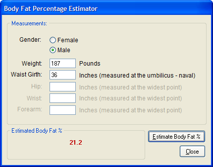 Body Fat Percentage Calculator Navy Method