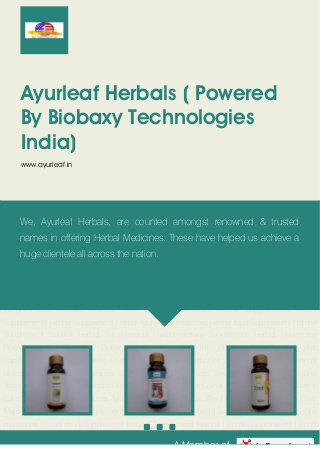Ayurleaf herbals-powered-by-biobaxy-technologies-india