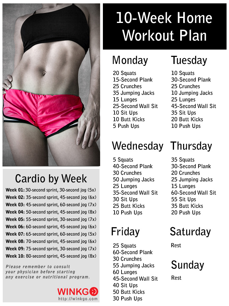 Follow This 10-Week No-Gym Workout Plan to Start the New Year With a ...