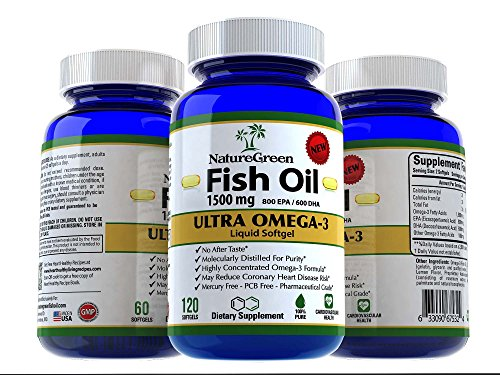 Galleon - Fish Oil Omega 3 Capsules 1500mg -Liquid Pills With EPA DHA ...